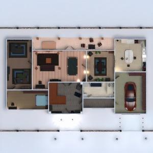 floorplans casa varanda inferior mobílias banheiro quarto quarto cozinha 3d