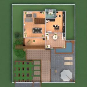 floorplans terrasse meubles décoration salle de bains chambre à coucher salon garage cuisine eclairage entrée 3d