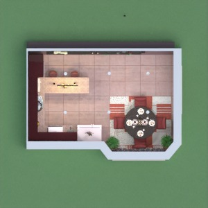 floorplans haus mobiliar dekor küche 3d