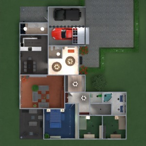 floorplans butas namas terasa vonia miegamasis svetainė garažas virtuvė eksterjeras vaikų kambarys apšvietimas valgomasis аrchitektūra 3d