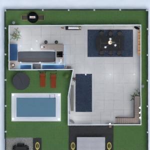 floorplans namas vonia miegamasis virtuvė valgomasis 3d