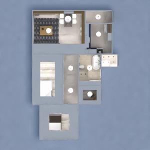 floorplans apartment decor bedroom kitchen lighting architecture 3d