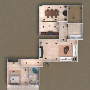 floorplans house terrace furniture bathroom bedroom living room garage kitchen lighting 3d