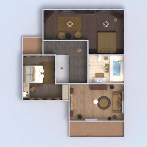 floorplans apartamento casa varanda inferior mobílias decoração faça você mesmo casa de banho dormitório quarto garagem cozinha área externa utensílios domésticos arquitetura 3d