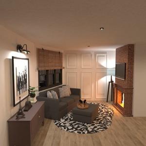 planos apartamento terraza cocina exterior arquitectura 3d