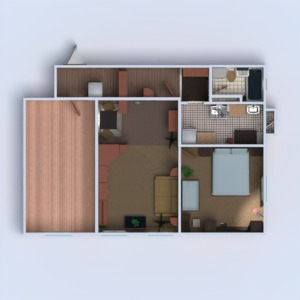 floorplans apartment bedroom living room renovation 3d