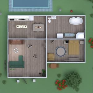 floorplans maison salle de bains chambre à coucher salon 3d