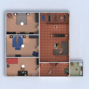floorplans casa varanda inferior mobílias decoração faça você mesmo dormitório quarto cozinha área externa paisagismo sala de jantar arquitetura 3d