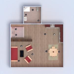planos apartamento muebles decoración cuarto de baño dormitorio salón cocina iluminación paisaje 3d