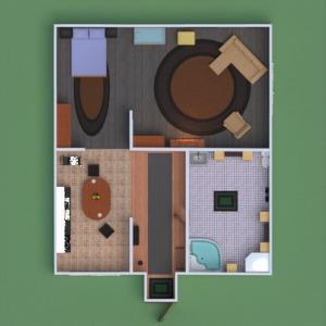 floorplans apartment house furniture bathroom bedroom living room kitchen 3d