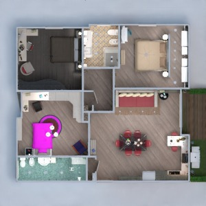 floorplans wohnung haus terrasse do-it-yourself architektur 3d