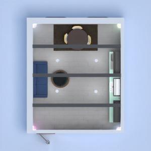 floorplans svetainė virtuvė valgomasis 3d