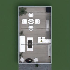 планировки гостиная кухня столовая 3d