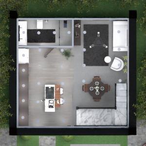 planos casa cuarto de baño cocina comedor 3d