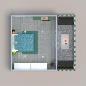 floorplans terrace bedroom 3d