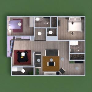 floorplans apartment terrace furniture bathroom bedroom kitchen entryway 3d