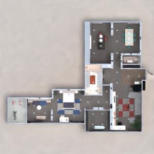floorplans apartment furniture decor bathroom bedroom living room kitchen dining room 3d