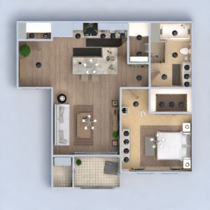 floorplans apartment furniture decor bathroom bedroom living room kitchen lighting storage studio 3d
