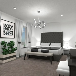 floorplans meble wystrój wnętrz sypialnia 3d
