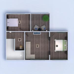 floorplans casa varanda inferior mobílias decoração quarto garagem cozinha área externa iluminação utensílios domésticos sala de jantar despensa 3d