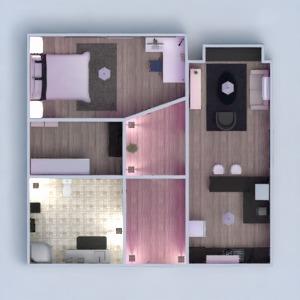 floorplans apartamento muebles decoración cuarto de baño dormitorio salón cocina iluminación estudio 3d