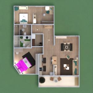 floorplans mieszkanie meble wystrój wnętrz łazienka sypialnia pokój dzienny kuchnia 3d