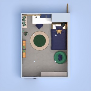 floorplans house furniture bedroom kids room lighting 3d