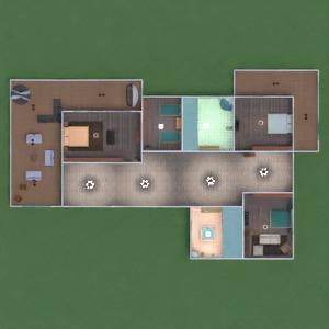 floorplans casa mobílias casa de banho dormitório quarto garagem cozinha iluminação sala de jantar patamar 3d