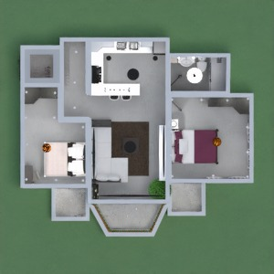 floorplans appartement meubles salon 3d