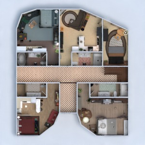 floorplans apartment furniture decor bathroom living room kitchen lighting household architecture studio 3d