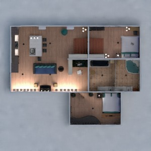 floorplans apartment furniture decor bathroom bedroom living room kitchen office lighting 3d
