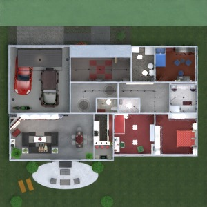 floorplans butas namas vonia miegamasis svetainė garažas virtuvė eksterjeras vaikų kambarys apšvietimas valgomasis аrchitektūra prieškambaris 3d