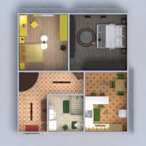 floorplans apartment furniture decor bathroom bedroom kitchen kids room lighting entryway 3d