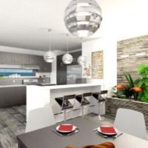 floorplans apartment terrace furniture decor bathroom bedroom living room kitchen lighting landscape dining room 3d