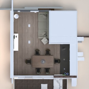 floorplans appartement meubles salon cuisine 3d