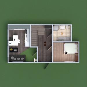 floorplans dom kuchnia jadalnia mieszkanie typu studio 3d