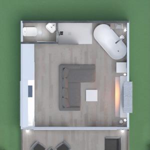 floorplans namas svetainė virtuvė studija 3d