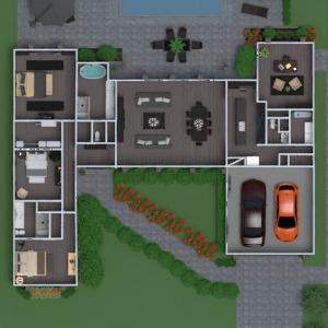 floorplans casa mobílias casa de banho quarto garagem cozinha escritório paisagismo sala de jantar despensa patamar 3d