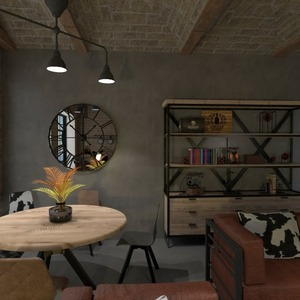 floorplans baldai dekoras svetainė valgomasis sandėliukas 3d