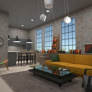 floorplans furniture decor living room kitchen lighting 3d