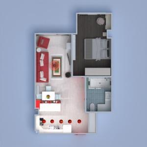 planos apartamento muebles decoración cuarto de baño dormitorio salón iluminación reforma estudio 3d
