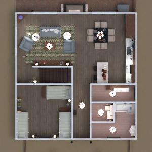 floorplans dom taras pokój dzienny kuchnia architektura 3d