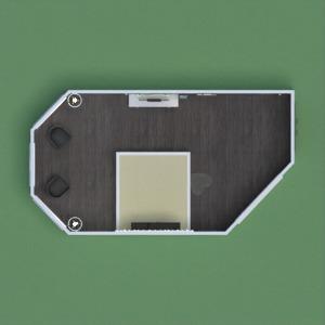 floorplans appartement meubles décoration chambre à coucher studio 3d