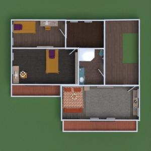 floorplans casa varanda inferior mobílias decoração casa de banho dormitório quarto garagem cozinha área externa iluminação paisagismo utensílios domésticos sala de jantar patamar 3d