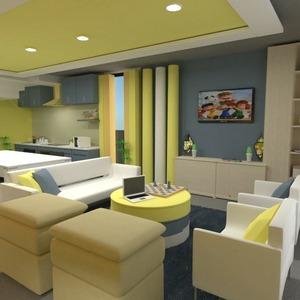 floorplans svetainė virtuvė vaikų kambarys valgomasis 3d