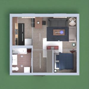 floorplans apartamento casa decoração 3d