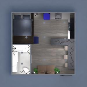 progetti appartamento arredamento monolocale 3d