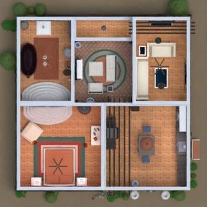 floorplans casa mobílias casa de banho dormitório 3d