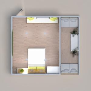 planos terraza muebles decoración dormitorio iluminación 3d