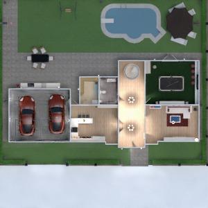 planos casa terraza dormitorio salón garaje cocina exterior habitación infantil despacho iluminación 3d